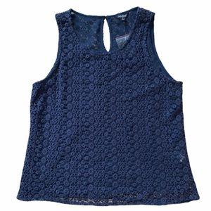 🍀Lucky Brand Paisley Crochet Tank Top